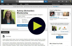 Five minute video tutorial to help you get the most out of your LinkedIn profile.