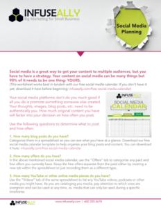 Social Media Planning Worksheet