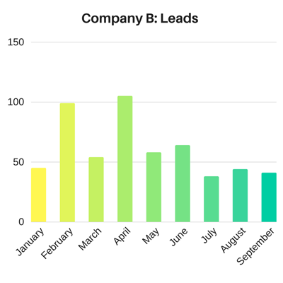 Inbound Marketing Examples: Company B Website Leads